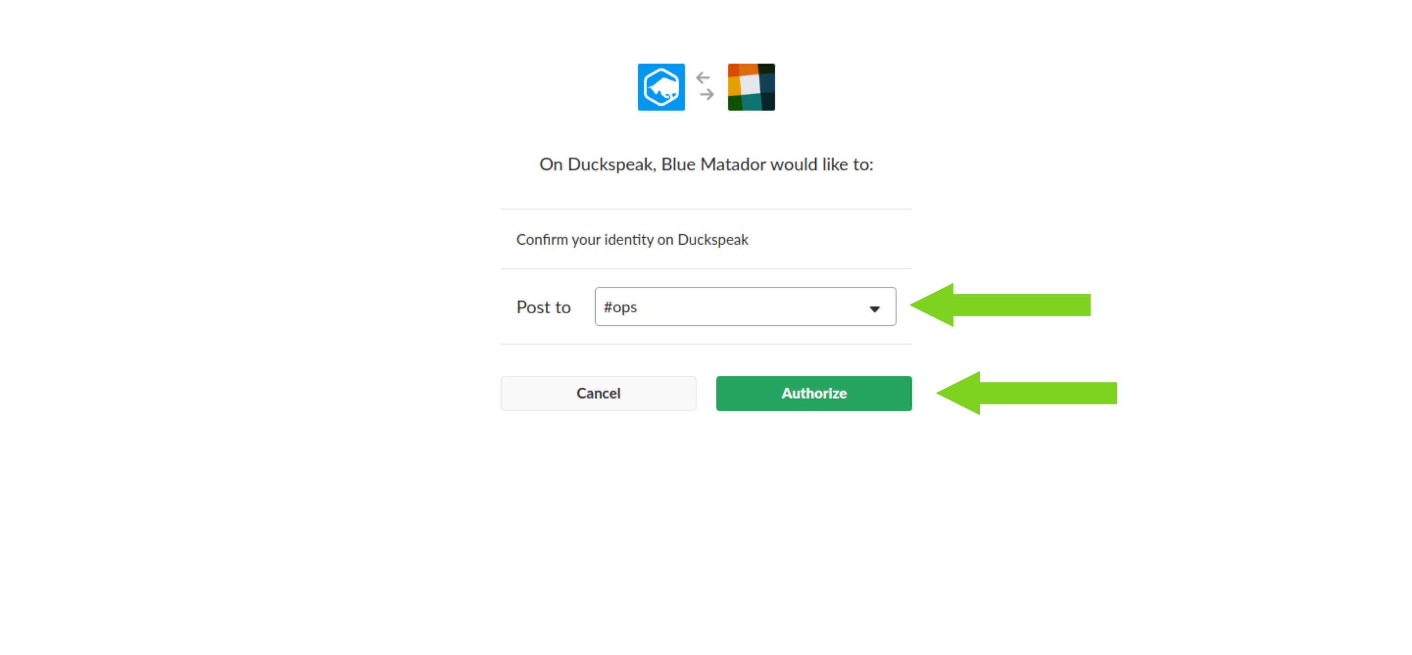 Authorize Slack App screenshot
